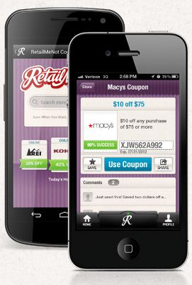 Retail Me Not Mobile App